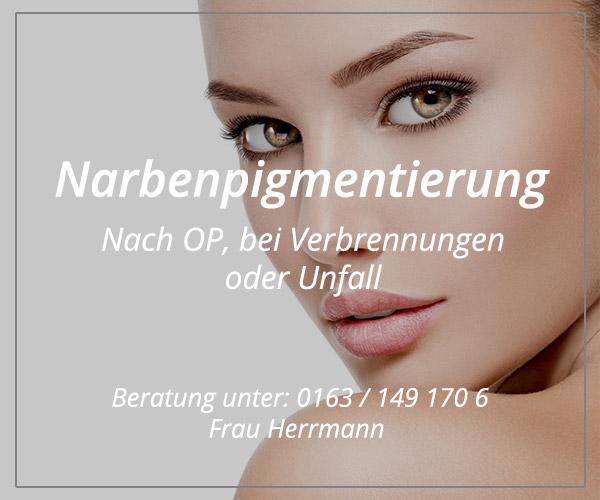 Narbenpigmentierung  / Narbenretusche